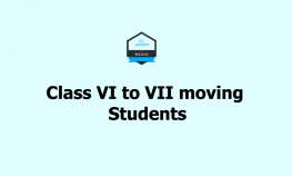 Class VI to VII moving Students