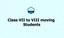 Class VII to VIII moving Students
