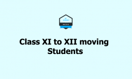 Class XI to XII moving Students